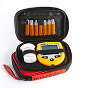 microdot® ORange Carrying case comes in two sizes and is highly visible.