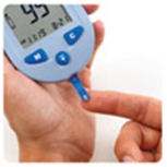 microdot® Blood Glucose Monitor adding blood sample